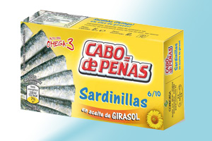 Small Sardines in sunflower oil Cabo de Peñas