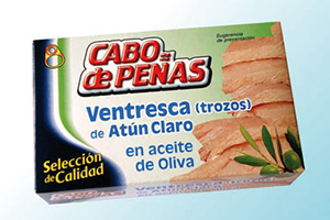 Tuna belly fillets in olive oil Cabo de Peñas